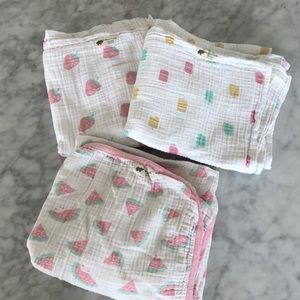 Monica + Andy set of 3 swaddles